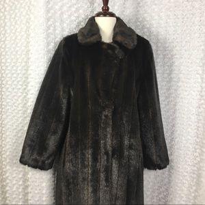 Gallery Long Faux Fur Coat